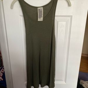 Army green free people tank size large